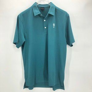 Dunning Golf Mens Polo Shirt Blue Short Sleeve L